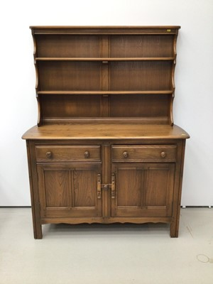 Lot 32 - Ercol elm two height dresser