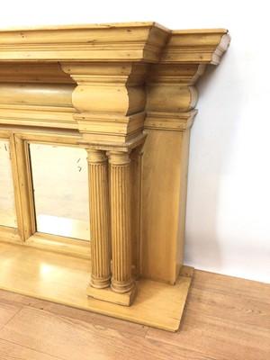 Lot 97 - Classical style pine shelf