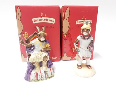 Lot 118 - Royal Doulton Bunnykins Roman Empire Collection Emperor DB312 & Centurion DB294; boxed