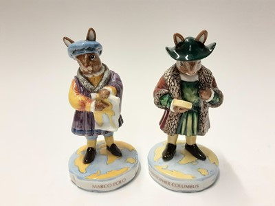 Lot 104 - Royal Doulton Bunnykins Limited Edition Christopher Columbus DB417 287/500, Marco Polo DB414 26/500, Pearly King DB411 198/500, Pearly Queen DB412 198/500, Guardsman DB127 36/1000 & Beefeater DB163...