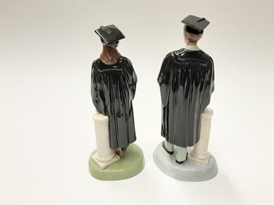 Lot 17 - Two Royal Doulton figures - The Graduate HN3016 and HN3017