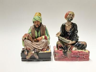 Lot 19 - Two Royal Doulton figures - Cobbler HN1706 and Mendicant HN1365