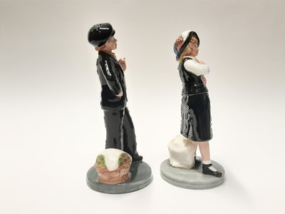 Lot 26 - Two Royal Doulton figures - Pearly Boy HN2767 and Pearly Girl HN2769