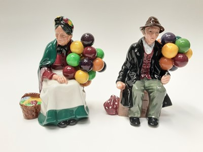 Lot 31 - Two Royal Doulton figures - Old Balloon Seller HN1315 and The Balloon Man HN1954