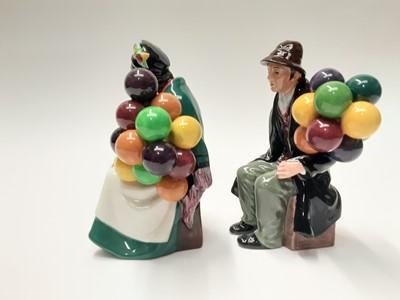 Lot 31 - Two Royal Doulton figures - Old Balloon Seller HN1315 and The Balloon Man HN1954