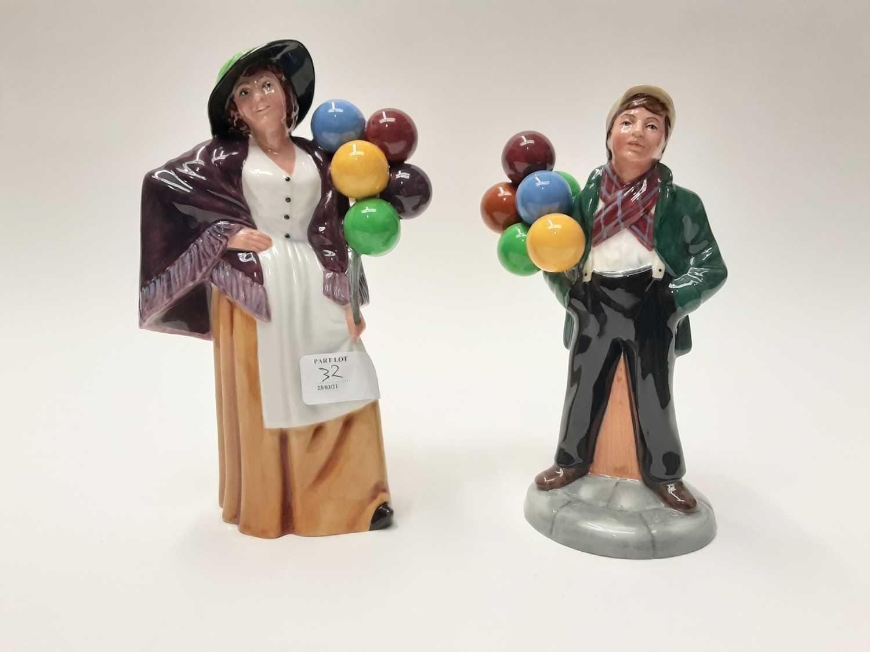 Lot 32 - Two Royal Doulton figures - Balloon Lady HN2935 and Balloon Boy HN2934