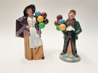 Lot 32 - Two Royal Doulton figures - Balloon Lady HN2935 and Balloon Boy HN2934