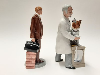 Lot 34 - Two Royal Doulton figures - Doctor HN4286 and Thanks Doc! HN2731
