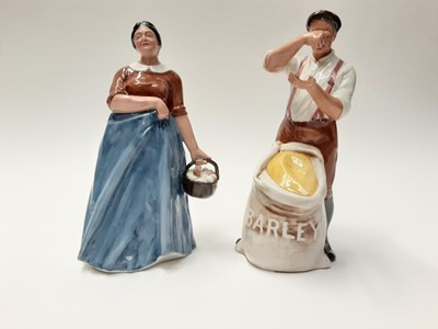 Lot 35 - Two Royal Doulton figures - Farmer HN3195 and Farmer's Wife HN3164
