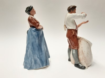 Lot 35 - Two Royal Doulton figures - Farmer HN3195 and Farmer's Wife HN3164