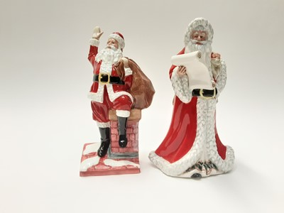 Lot 36 - Two Royal Doulton figures - Santa Claus HN4175 and Father Christmas HN3399