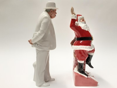 Lot 39 - Two Royal Doulton figures - Santa Claus HN4175 and Sir Winston Churchill HN3057