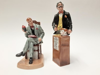 Lot 40 - Two Royal Doulton figures - Antique Dealer HN4424 and Auctioneer HN2988