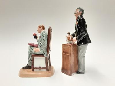 Lot 40 - Two Royal Doulton figures - Antique Dealer HN4424 and Auctioneer HN2988