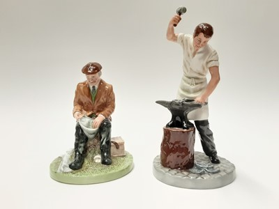 Lot 42 - Two Royal Doulton figures - Blacksmith HN4488 and Fisherman HN4511