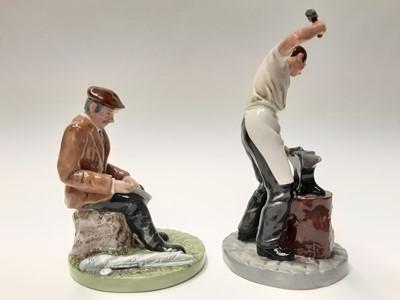 Lot 42 - Two Royal Doulton figures - Blacksmith HN4488 and Fisherman HN4511