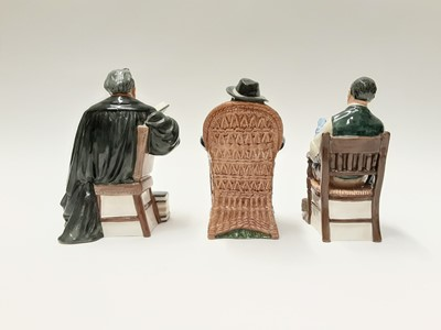 Lot 44 - Three Royal Doulton figures - The Bachelor HN2319, Taking Things Easy HN2677 and The Professor HN2281