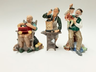 Lot 45 - Three Royal Doulton figures - The Toymaker HN2250, The Puppetmaker HN2253 and The Clockmaker HN2278