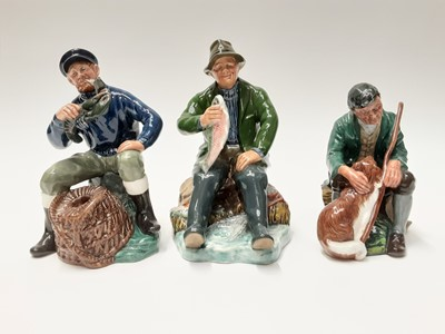 Lot 46 - Three Royal Doulton figures - A Good Catch HN2258, The Master HN2325 and The Lobster Man HN2317