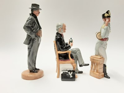 Lot 49 - Three Royal Doulton figures - Morning Ma'am HN2895, Arnold Bennett HN4360 and The Doctor HN2858