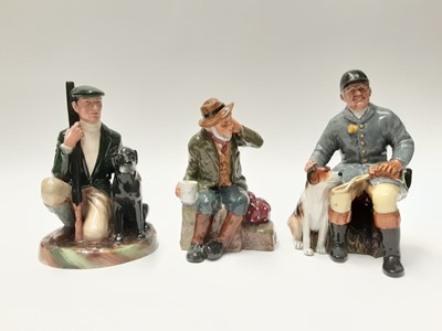 Lot 50 - Three Royal Doulton figures - The Huntsman HN2492, The Gamekeeper HN2879 and Owd Willum HN2042