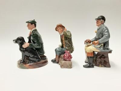 Lot 50 - Three Royal Doulton figures - The Huntsman HN2492, The Gamekeeper HN2879 and Owd Willum HN2042