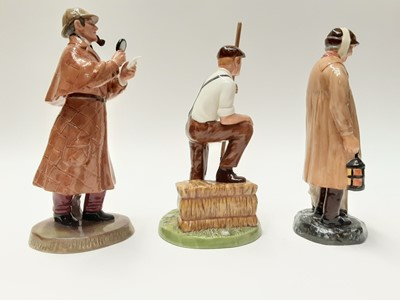 Lot 51 - Three Royal Doulton figures - The Detective HN2359, The Shepherd HN1975 and Farmer HN4487