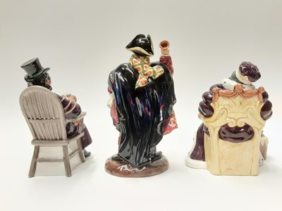 Lot 53 - Three Royal Doulton figures - Town Crier HN2119, Old King Cole HN2217 and The Coachman HN2282