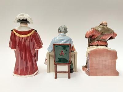 Lot 55 - Three Royal Doulton figures - The China Repairer HN2943, The Mayor HN2280 and Falstaff HN2054