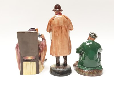 Lot 56 - Three Royal Doulton figures - Lambing Time HN1890, The Wayfarer HN2362 and The Foaming Quart HN2162