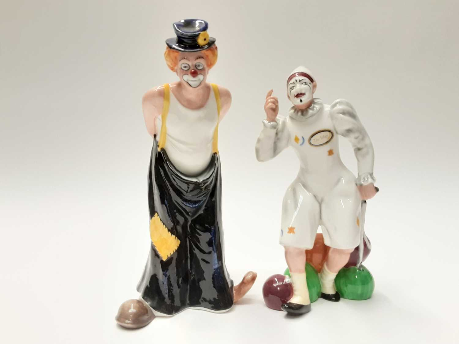 Lot 60 - Two Royal Doulton figures - The Joker HN2252 and Tip-Toe HN3293