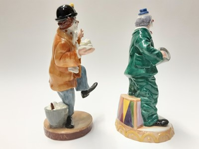 Lot 61 - Two Royal Doulton figures - The Clown HN2890 and Will He - Won't He HN3275