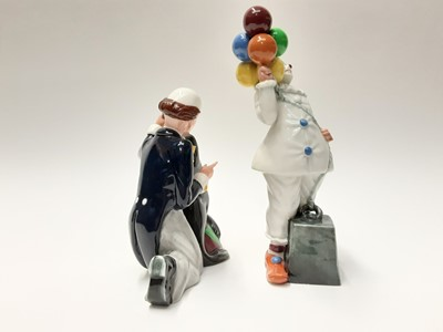Lot 62 - Two Royal Doulton figures - Partners HN3119 and Balloon Clown HN2894