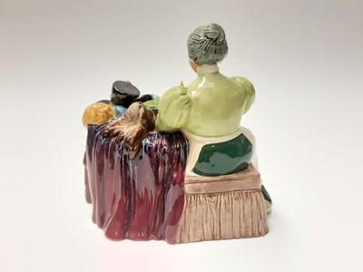 Lot 67 - Royal Doulton figure group - Flower Seller's Children HN1342 plus another Royal Doulton figure - The Wardrobe Mistress HN2145 (2)