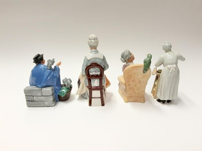 Lot 69 - Four Royal Doulton figures - Eventide HN2814, Tuppence A Bag HN2320, A Penny's Worth HN2408 and Pretty Polly HN2768