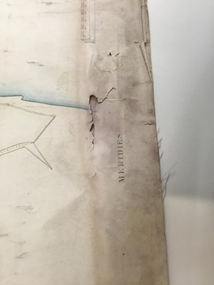 Lot 744 - Of local interest: Rare and possibly unique hand drawn map of Dunwich