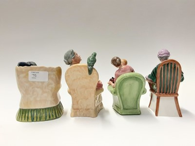 Lot 70 - Four Royal Doulton figures - The Family Album HN2321, When I Was Young HN3457, Pretty Polly HN2768 and Sweet Dreams HN2380