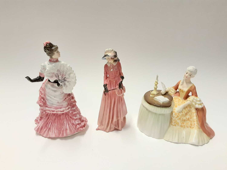 Lot 82 - Three Royal Doulton figures - Maureen HN1770, Meditation HN2330 and L'ambitieuse HN3359