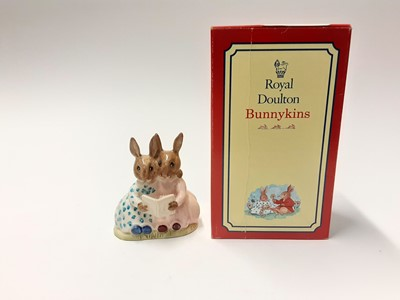 Lot 130 - Royal Doulton Bunnykins Storytime D89 and a selection of  empty Bunnykins boxes
