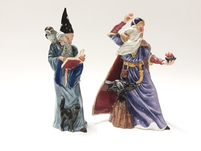 Lot 131 - Two Royal Doulton figures - The Sorcerer HN4252 and The Wizard HN2877
