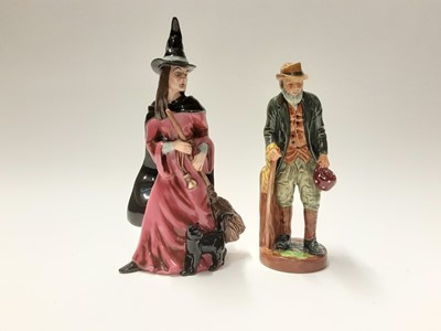 Lot 132 - Two Royal Doulton figures - Witch HN4444 and The Gaffer HN2053