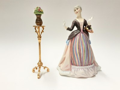 Lot 137 - Royal Doulton limited edition Gentle Arts figure - Flower Arranging HN3040 on plinth base, modelled by Don Brindley, number 429 of 750, boxed with certificate
