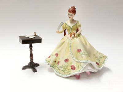 Lot 138 - Royal Doulton limited edition Gentle Arts figure - Writing HN3049 on plinth base, modelled by Pauline Parsons, number 429 of 750, boxed with certificate