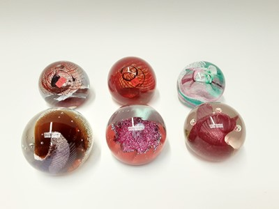 Lot 172 - Six various Caithness Art Glass Paperweights (6)