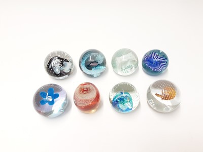 Lot 170 - Eight various Caithness Art Glass Paperweights (8)