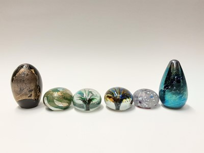Lot 168 - Six various Isle of Wight Art Glass Paperweights (6)