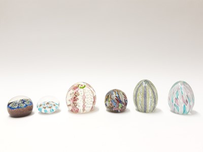 Lot 166 - Six various Murano Art Glass Paperweights (6)