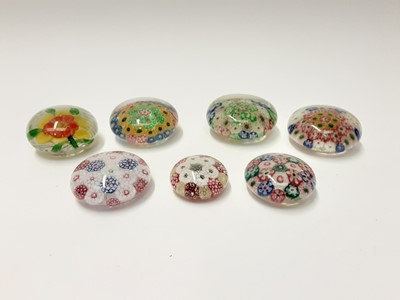 Lot 174 - Seven various 1930's Chinese Art Glass Paperweights (7)