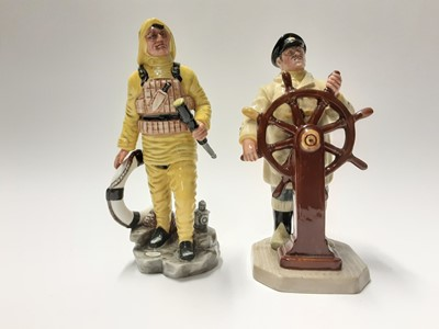Lot 140 - Two Royal Doulton figures - The Lifeboatman HN2764 and The Helmsman HN2499