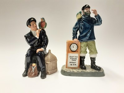 Lot 141 - Two Royal Doulton figures - All Aboard HN2940 and Shore Leave HN2254